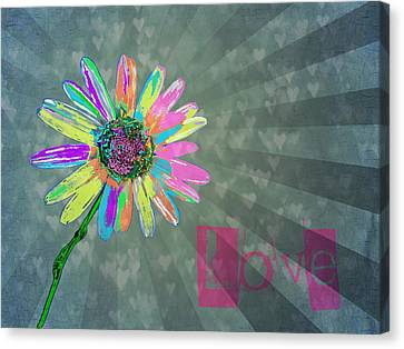 Graphic Digital Art Canvas Print - Love by Marianna Mills