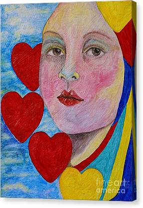 Canvas Print featuring the painting Love Me Do  by Jane Chesnut