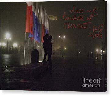Love Me Tender - Power Of Love At Cracow . Canvas Print by  Andrzej Goszcz