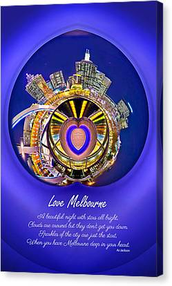 Love Melbourne Canvas Print