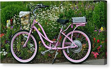 Canvas Print featuring the photograph Love My Bike by Barbara Dudley