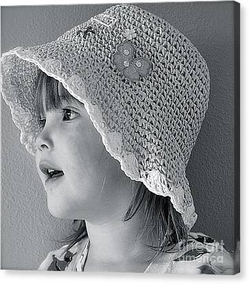 Canvas Print featuring the photograph Love My Hat by Barbara Dudley