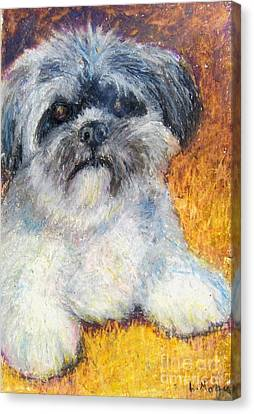 Love My Lhasa Canvas Print by Laurie Morgan