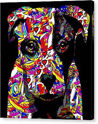 Love My Pup Canvas Print by Cindy Edwards
