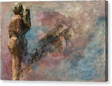 Canvas Print featuring the digital art Love Never Dies by Davina Washington