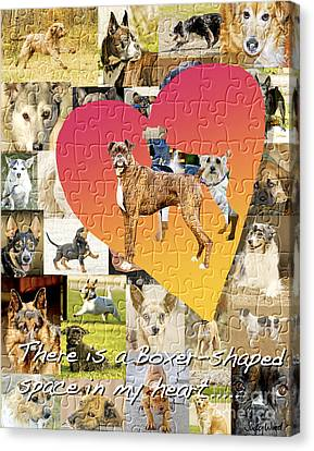 Love Of Boxers Canvas Print by Judy Wood