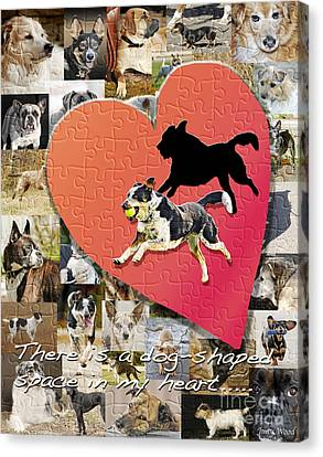 Love Of Dogs--general Version Canvas Print by Judy Wood