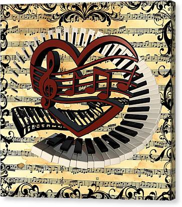 Love Of Music  Canvas Print