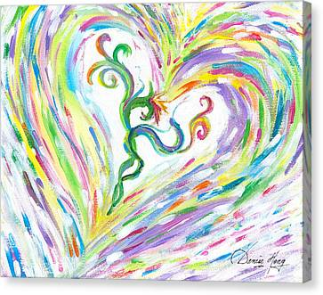 Love Of Parents Love Of Child Canvas Print by Denise Hoag