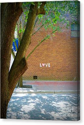 Love On The Wall Canvas Print by Lorraine Heath