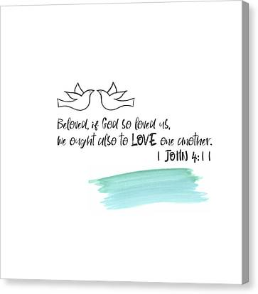 Love One Another II Canvas Print by Pamela J. Wingard