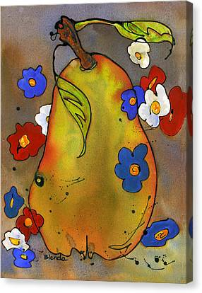 Blendastudio Canvas Print - Love Pear  by Blenda Studio