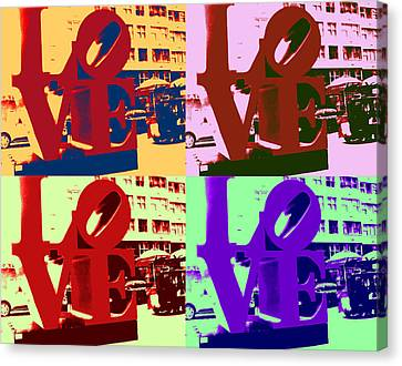 Canvas Print featuring the digital art Love Pop Art II by J Anthony