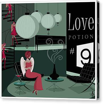 Love Potion No9 Canvas Print by Kate Paulos