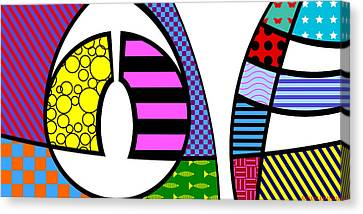 Canvas Print featuring the digital art Love by Randall Henrie