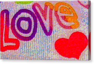 Love Canvas Print by Rebecca Flaig