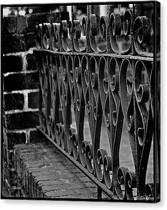 Antique Ironwork Canvas Print - Love Recognizes - Black And White Image Art by Jordan Blackstone