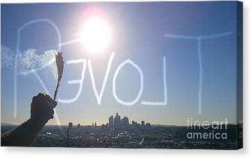Love Revolt Canvas Print by Drew Shourd