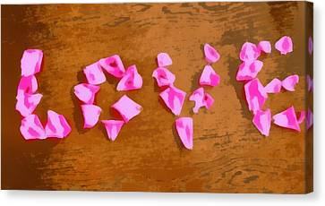 Love Rose Petals Pop Art Canvas Print by Dan Sproul