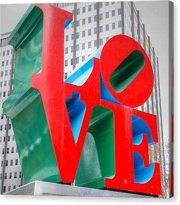 Philadelphia Canvas Print - Love Sculpture by Jennifer Ancker