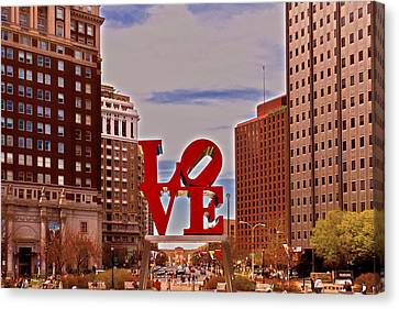 Love Sculpture - Philadelphia - 2 Canvas Print by Lou Ford