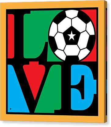 Love Soccer Canvas Print by Gary Grayson