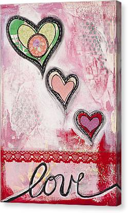 Canvas Print featuring the mixed media Love  by Stanka Vukelic