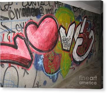 Love. Street Graffiti Canvas Print by Ausra Huntington nee Paulauskaite