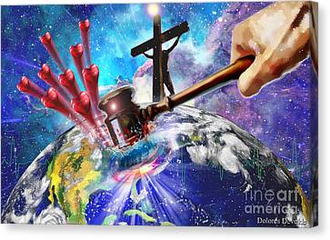 Love That Shook The World Canvas Print by Dolores Develde