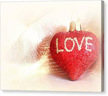 Valentine Canvas Print - Love... by The Art Of Marilyn Ridoutt-Greene