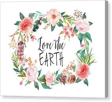Love The Earth Canvas Print by Tara Moss