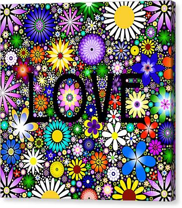 Love The Flowers Canvas Print
