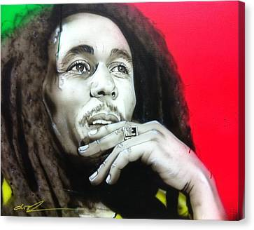 Bob Marley - ' Love The Life You Live - Live The Life You Love ' Canvas Print