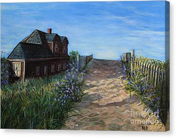 Love The Old Cottage Canvas Print by Rita Brown