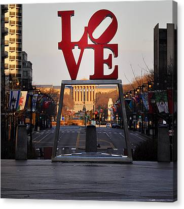 Benjamin Franklin Canvas Print - Love The Parkway by Bill Cannon