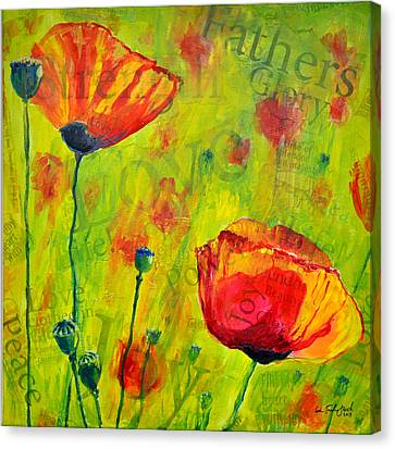 Love The Poppies Canvas Print by Lisa Fiedler Jaworski