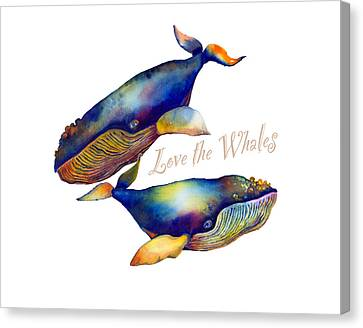Love The Whales Canvas Print by Michelle Scott