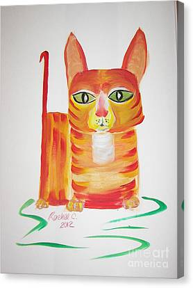 Love Those Orange Tabbies Canvas Print