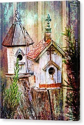 Love Thy Neighbor - Birdhouses Canvas Print