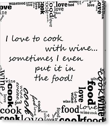 Love To Cook Canvas Print by Mair Hunt