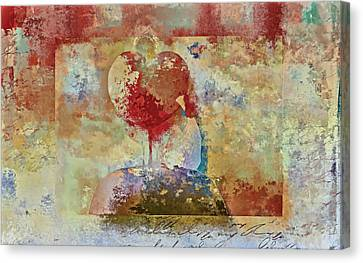 Girl Digital Art Canvas Print - Love Tree - Pst03x01 by Variance Collections