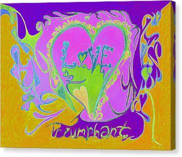 Love Triumphant V3 Canvas Print by Kenneth James