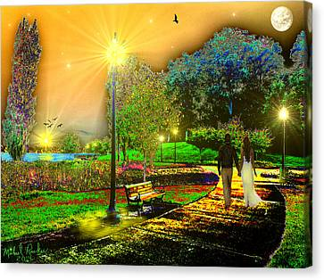 Love Walk Canvas Print by Michael Rucker