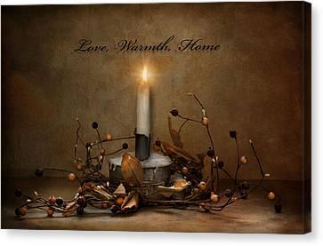 Love Warmth Home Canvas Print by Robin-Lee Vieira