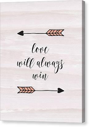 Love Will Always Win Canvas Print