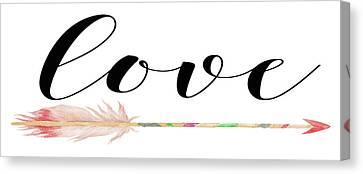 Love With Arrow Canvas Print