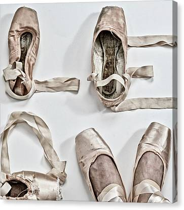 Love Written With Ballet Shoes Canvas Print