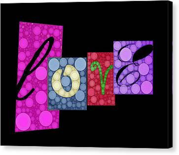 Love You Canvas Print by Cindy Edwards