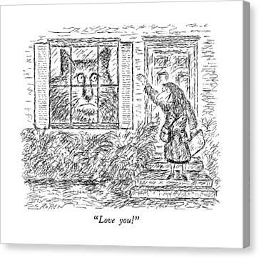 House Pet Canvas Print - Love You! by Edward Koren