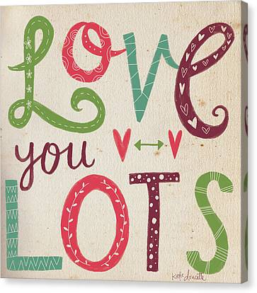 Love You Lots Canvas Print